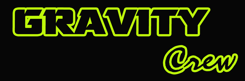 logo gravity crew sfondo nero